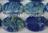 CLA465 15.5 inches 18*25mm oval synthetic lapis lazuli beads