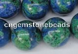 CLA486 15.5 inches 20mm round synthetic lapis lazuli beads