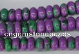CLA499 15.5 inches 5*10mm rondelle synthetic lapis lazuli beads