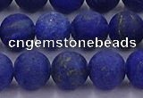 CLA73 15.5 inches 10mm round matte lapis lazuli beads wholesale