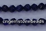 CLA81 15.5 inches 6mm faceted nuggets dyed lapis lazuli beads