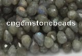 CLB07 16 inches 6*10mm faceted teardrop labradorite beads wholesale