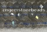 CLB1020 15.5 inches 2*4mm faceted rondelle labradorite gemstone beads
