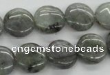 CLB106 15.5 inches 14mm flat round labradorite gemstone beads wholesale