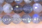 CLB1071 15.5 inches 5mm faceted round labradorite beads