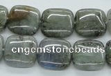 CLB116 15.5 inches 16*16mm square labradorite gemstone beads wholesale