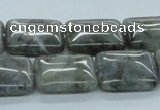 CLB123 15.5 inches 15*20mm rectangle labradorite gemstone beads wholesale