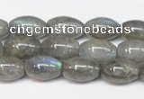 CLB150 15.5 inches 8*12mm rice labradorite gemstone beads