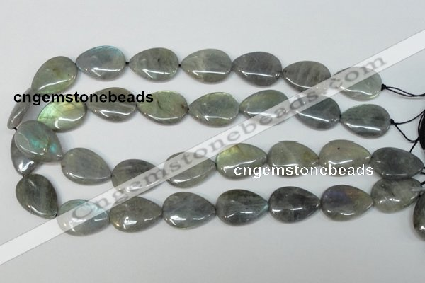 CLB160 15.5 inches 18*25mm flat teardrop labradorite gemstone beads