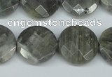 CLB193 15.5 inches 20mm faceted coin labradorite gemstone beads