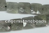 CLB201 15.5 inches 14*14mm faceted square labradorite beads