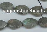 CLB209 15.5 inches 12*16mm faceted flat teardrop labradorite beads