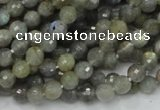CLB21 15.5 inches 6mm faceted round labradorite gemstone beads