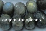 CLB34 15.5 inches 15*20mm faceted rondelle labradorite gemstone beads