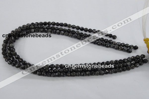 CLB361 15.5 inches 8mm faceted round black labradorite beads wholesale