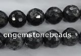 CLB362 15.5 inches 10mm faceted round black labradorite beads wholesale