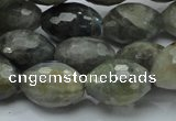 CLB37 15.5 inches 13*18mm faceted rice labradorite gemstone beads