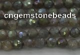 CLB610 15.5 inches 4mm faceted round AB-color labradorite beads