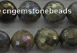 CLB616 15.5 inches 16mm faceted round AB-color labradorite beads