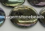 CLB644 15.5 inches 40mm flat round AB-color labradorite beads