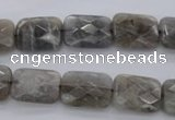 CLB748 15.5 inches 8*12mm faceted rectangle labradorite gemstone beads