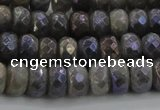 CLB758 15.5 inches 6*10mm faceted rondelle AB-color labradorite beads