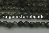 CLB900 15.5 inches 4mm faceted round labradorite gemstone beads