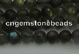 CLB901 15.5 inches 6mm faceted round labradorite gemstone beads