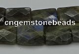 CLB962 15.5 inches 13*18mm faceted rectangle labradorite beads