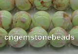 CLE202 15.5 inches 8mm round lemon turquoise beads wholesale