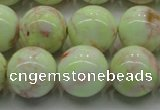 CLE204 15.5 inches 12mm round lemon turquoise beads wholesale