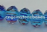 CLG51 13 inches 9*12mm faceted rondelle handmade lampwork beads