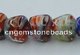 CLG574 16 inches 10*12mm apple lampwork glass beads wholesale