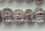 CLG777 14 inches 8*12mm rondelle lampwork glass beads wholesale