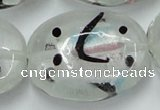 CLG860 15.5 inches 24*30mm oval lampwork glass beads wholesale