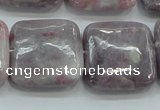 CLI63 15.5 inches 25*25mm square natural lilac jasper beads wholesale