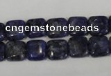 CLJ264 15.5 inches 10*10mm square dyed sesame jasper beads wholesale