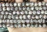 CLJ503 15.5 inches 4mm,6mm,8mm,10mm & 12mm round sesame jasper beads