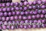 CLJ555 15.5 inches 6mm,8mm,10mm & 12mm faceted round sesame jasper beads