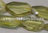 CLQ260 15.5 inches 15*18mm – 20*32mm faceted freeform lemon quartz beads