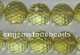 CLQ60 15.5 inches 16mm faceted round natural lemon quartz beads