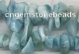 CLR135 15.5 inches 3*8mm - 6*15mm chips natural larimar gemstone beads