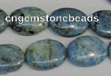 CLR215 15.5 inches 15*20mm oval larimar gemstone beads