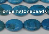 CLR420 15.5 inches 8*12mm oval dyed larimar gemstone beads