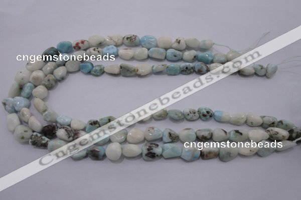 CLR51 15.5 inches 8*10mm – 12*16mm nuggets natural larimar beads