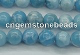 CLR602 15.5 inches 8mm round imitation larimar beads wholesale