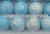 CLR605 15.5 inches 14mm round imitation larimar beads wholesale
