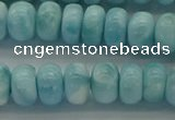 CLR80 15.5 inches 5*8mm rondelle natural larimar gemstone beads