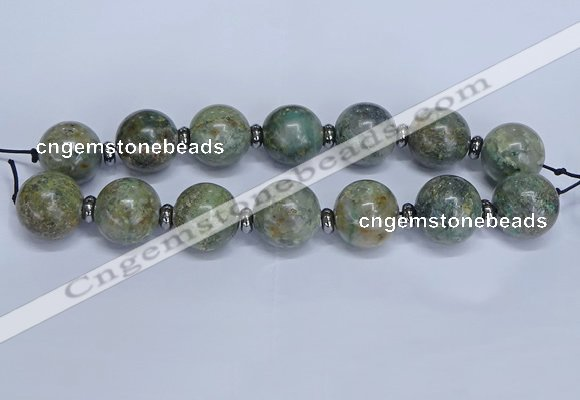 CLS201 7.5 inches 25mm round large Africa stone beads