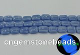 CLU162 15.5 inches 12*16mm rectangle blue luminous stone beads